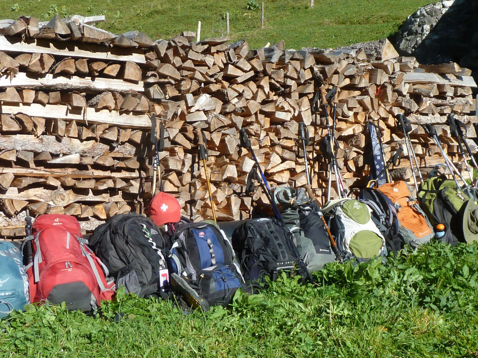 Hiker Packs in the Jungfrau