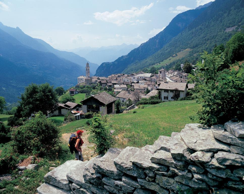 Soglio Swiss Alps Hiking