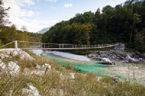 Srpenica bridge in Slovenia