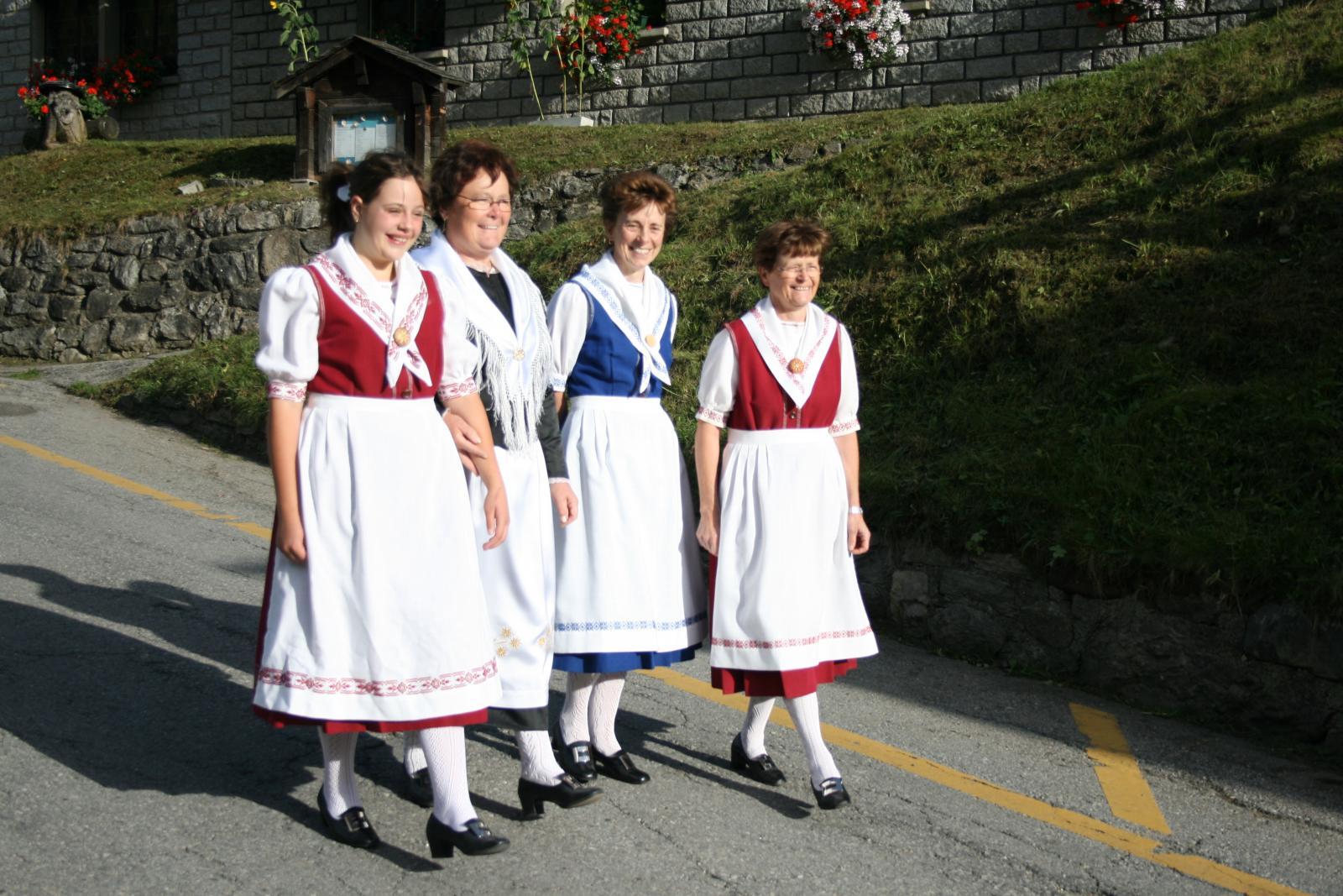 Valais Switzerland Traditional Dress