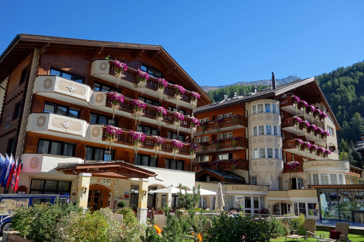 Swiss hotels and flowers